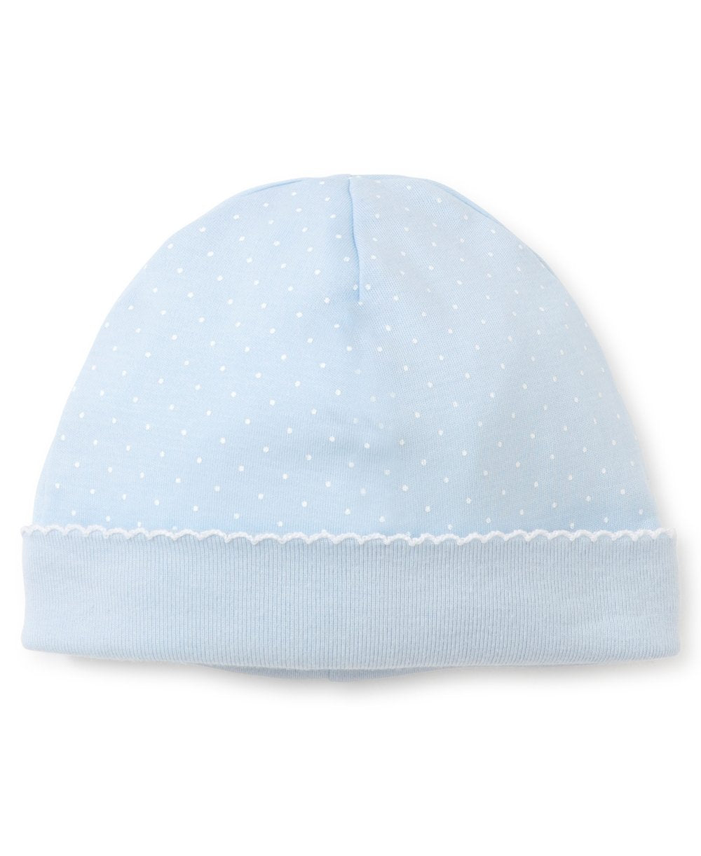 Blue/White Dots Print Hat - Posh Tots Children's Boutique