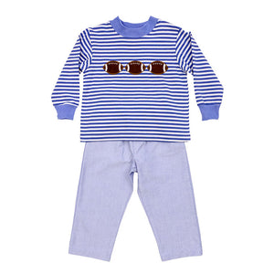 Football Trio Pant Set - Posh Tots Children's Boutique