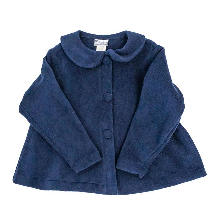 Fleece Jacket, Navy - Posh Tots Children's Boutique