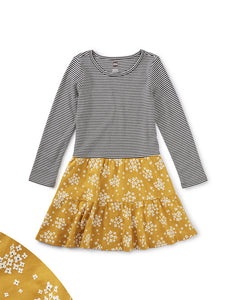 Tiered Skirted Dress - Golden Wildflowers