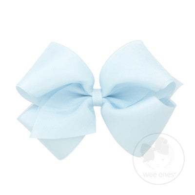 Large Organza Overlay Bow - Posh Tots Children's Boutique
