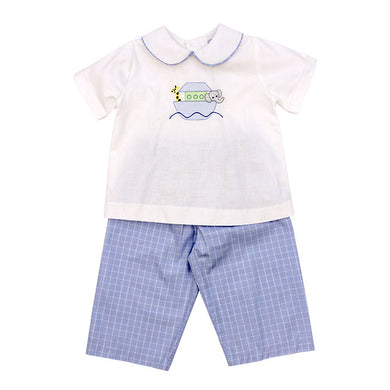 Noah's Ark Pant Set- Boys