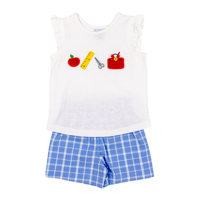 Back to School Short Set, Girls - Posh Tots Children's Boutique