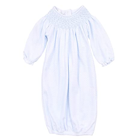 Smocked Blue Bishop Gown - Posh Tots Children's Boutique