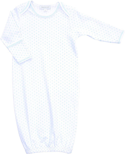 Mini Dots Lap Gown, Light Blue - Posh Tots Children's Boutique