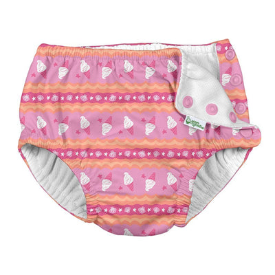 *Swim Diaper - Pink Ice Cream - Posh Tots Children's Boutique
