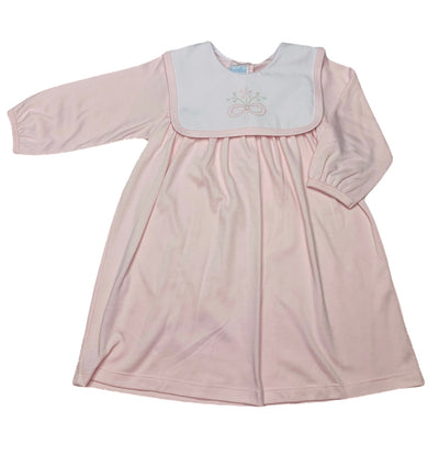 Flower L/S Knit Dress - Pink - Posh Tots Children's Boutique