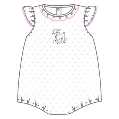 Precious Lamb Flutter Bubble - Posh Tots Children's Boutique