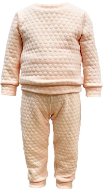 Quilted Sweatsuit - Light Pink - All Day Play - Posh Tots Children's Boutique