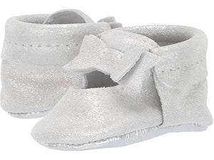 Ballet Flat Bow Mocc, Glass Slipper - Posh Tots Children's Boutique