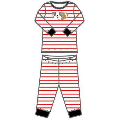 Love Bulldog Applique Pajamas - Posh Tots Children's Boutique