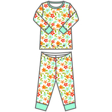Load image into Gallery viewer, Fall Flowers Long Pajama - Posh Tots Children's Boutique