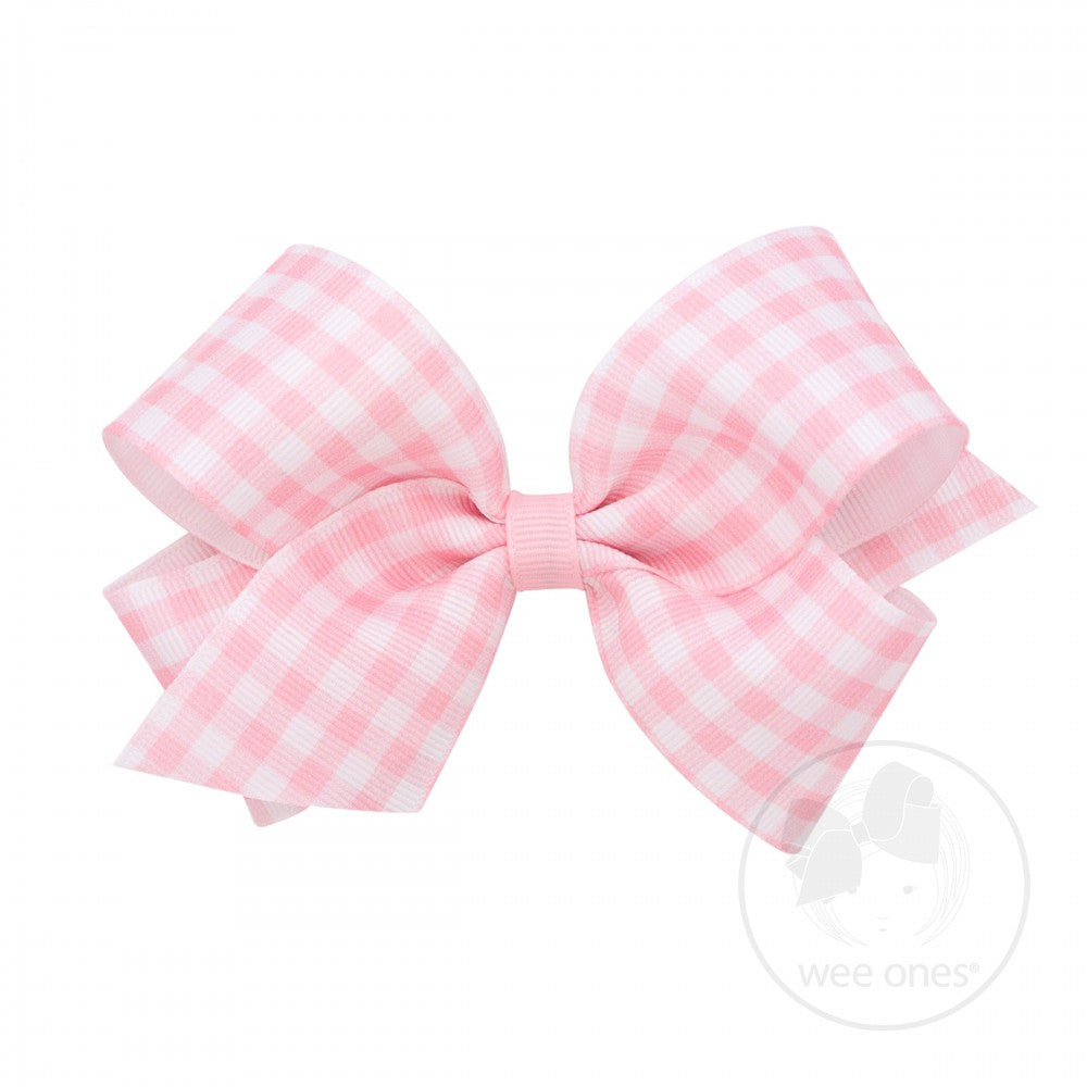 Wee Ones Pink Gingham Bow - Posh Tots Children's Boutique