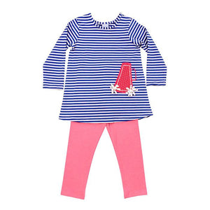 Megaphone Tunic Pant Set - Posh Tots Children's Boutique