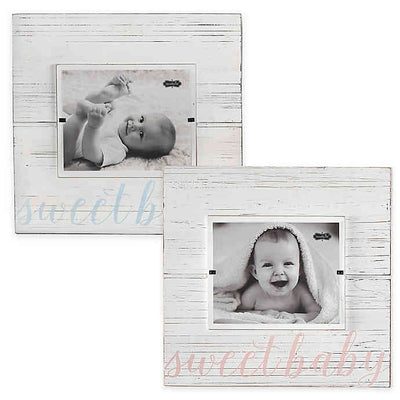 """Sweet Baby"" Wood Picture Frame, Pink - Posh Tots Children's Boutique"