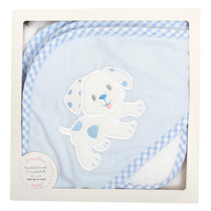 Boxed Hooded Towel - Blue Puppy - Posh Tots Children's Boutique