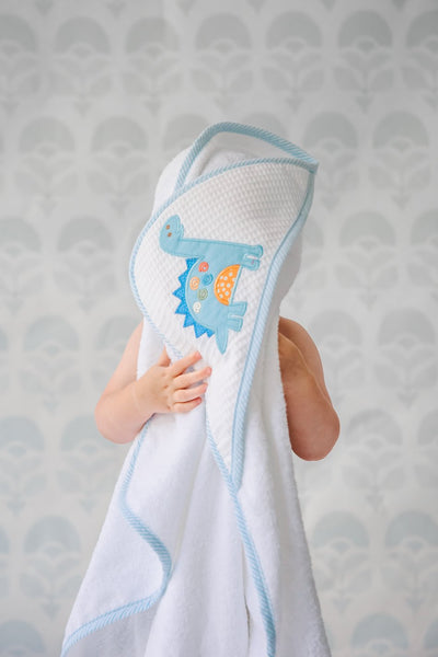 Box Hooded Towel Set - Dinosaur - Posh Tots Children's Boutique