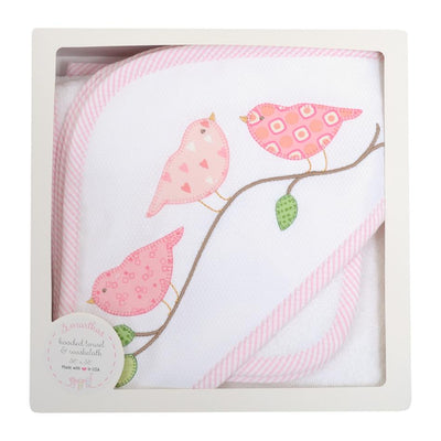 Box Hooded Towel Set - Birds - Posh Tots Children's Boutique