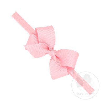 Mini Classic Grosgrain Bow on Baby Band - Posh Tots Children's Boutique