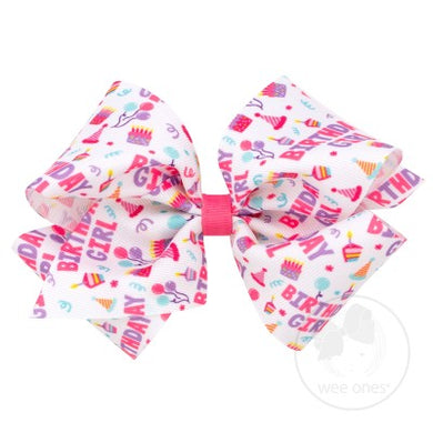 Wee Ones Birthday Girl Bow - Posh Tots Children's Boutique
