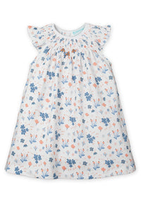 Bloomer Set~ Emily - Blue on White - Posh Tots Children's Boutique