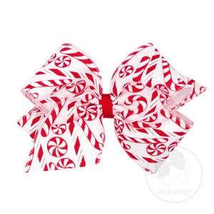 Christmas Candy Cane Bow - Posh Tots Children's Boutique