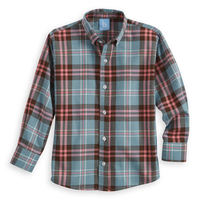 Buttondown Shirt - Tipton Plaid - Posh Tots Children's Boutique