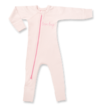 Load image into Gallery viewer, Lovebug Pink-Zip Romper - Posh Tots Children's Boutique