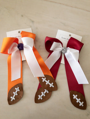 Collegiate Double-Tailed Bows - Posh Tots Children's Boutique