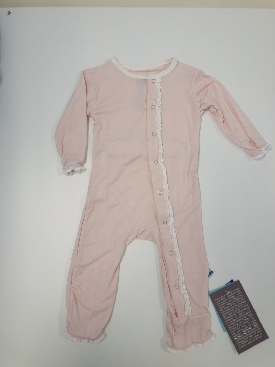 Blush Ruffle Coverall w/Snaps - Posh Tots Children's Boutique