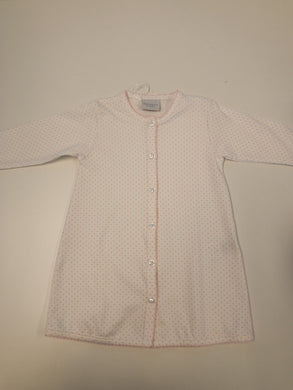 Pink Pin Dot Daygown - Posh Tots Children's Boutique