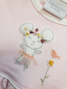 Mouse Ballerina Popover Dress - Posh Tots Children's Boutique