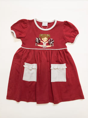 Cheerleader Popover Dress - Posh Tots Children's Boutique