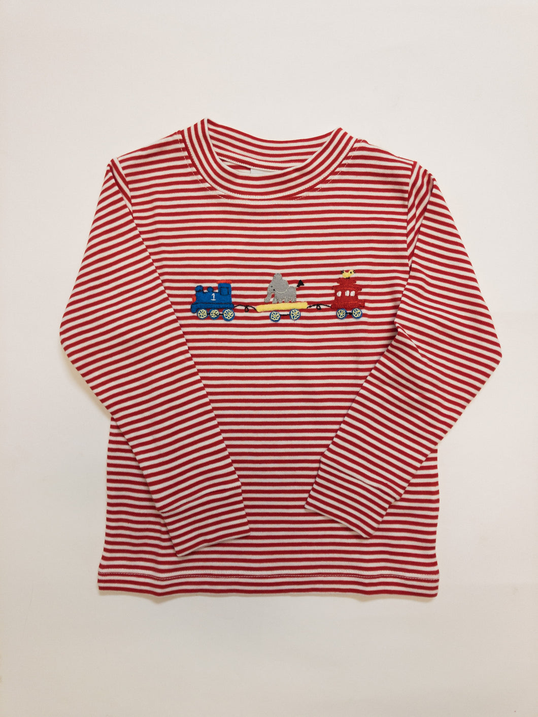 Animal Train Crew Neck Shirt - Posh Tots Children's Boutique
