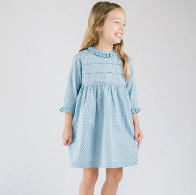 Ruffle Pleat Dress - Posh Tots Children's Boutique
