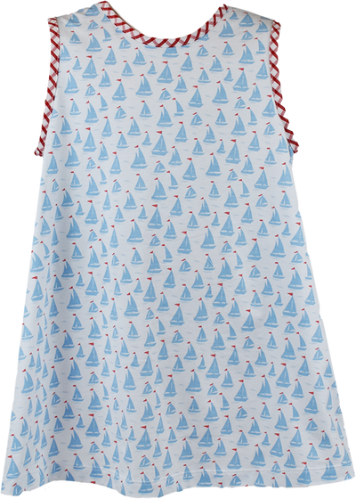 PRE ORDER Ann Dress - Anchors Aweigh - Posh Tots Children's Boutique