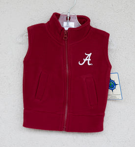 Alabama Fleece Vest - Posh Tots Children's Boutique