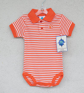 Clemson Striped Bodysuit - Posh Tots Children's Boutique