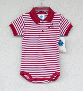 Alabama Striped Bodysuit - Posh Tots Children's Boutique