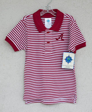 Alabama Striped Polo - Posh Tots Children's Boutique