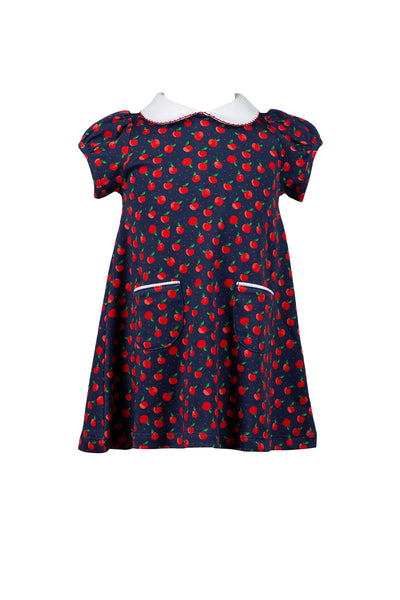 Archer Apple Dress - Posh Tots Children's Boutique