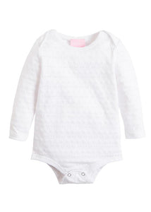Essential Onesie - White Pointelle - Posh Tots Children's Boutique