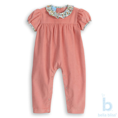 Ruffled Marney Romper - Rose - Posh Tots Children's Boutique
