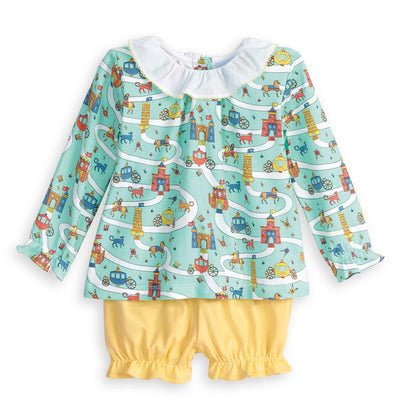 Pima Polly Bloomer Set - Camelot - Posh Tots Children's Boutique