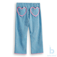 Load image into Gallery viewer, Lula Pant with Heart Pocket - Lapis - Posh Tots Children's Boutique