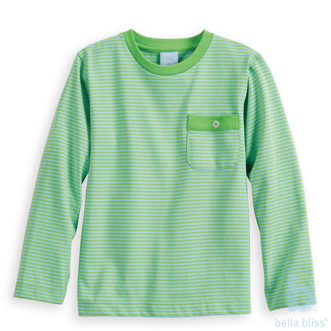 Fall Piped Pocket Mac Tee - Posh Tots Children's Boutique