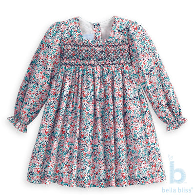 Smocked Libby Floral Lucille Dress - Posh Tots Children's Boutique