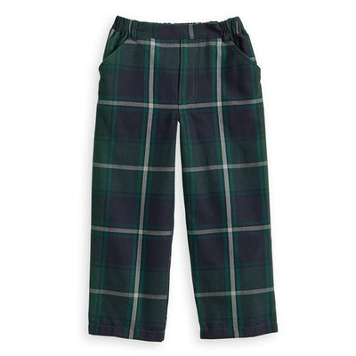 Plaid Faux Zip Pant - Posh Tots Children's Boutique