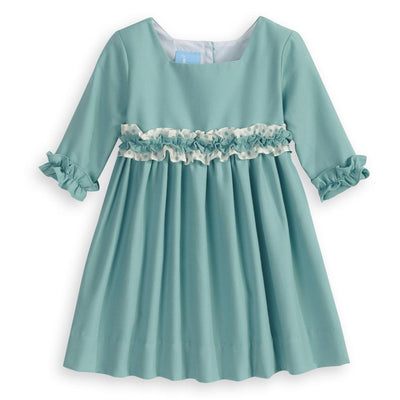 Gabriella Dress - Wasabi - Posh Tots Children's Boutique