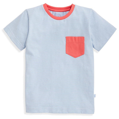 Striped Jersey Mac Tee - Blue Candy Stripe - Posh Tots Children's Boutique